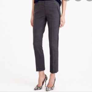 Campbell capri in wool with leather tuxedo stripe